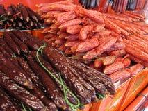 Salsiccie incerate Fotografia Stock Libera da Diritti