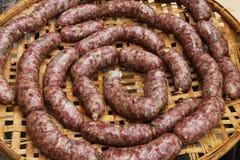 Salsiccie secche Immagine Stock