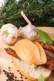 Salsiccie sottili conosciute e care del mondo di Frankfurterki piccole Fotografia Stock Libera da Diritti