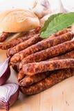 Salsiccie sottili conosciute e care del mondo di Frankfurterki piccole Fotografia Stock