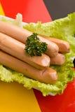 Salsiccie tedesche Fotografie Stock Libere da Diritti