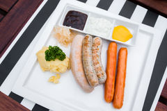 Salsiccie tedesche Immagine Stock
