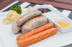 Salsiccie tedesche Fotografia Stock