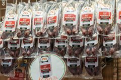 Salsiccie tradizionali di Mangalica dell'ungherese immagine stock libera da diritti
