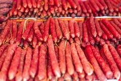 Salsicha chinesa imagens de stock