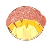 Salsicha com queijo Foto de Stock
