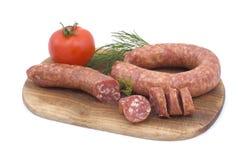 Salsicha com tomate e aneto Foto de Stock