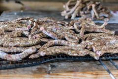 Salsicha congelada Fotografia de Stock Royalty Free