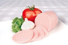 Salsicha cortada Fotografia de Stock