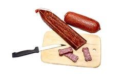 A salsicha cortada foto de stock royalty free
