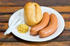 Salsicha cozinhada Foto de Stock