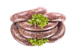 Salsicha crua Foto de Stock