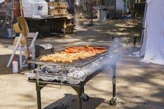 Salsicha da grade de um festival da alfazema da exploração agrícola 123 Imagens de Stock Royalty Free