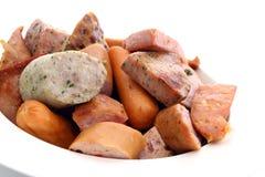 Salsicha da mistura. Fotos de Stock