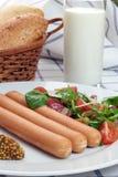 Salsicha da salsicha Imagem de Stock