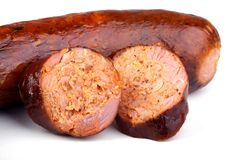 Salsicha de carne de porco Imagens de Stock