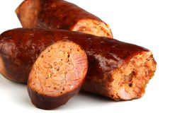 Salsicha de carne de porco Imagem de Stock