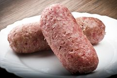 Salsicha de carne de porco foto de stock royalty free