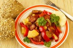 Salsicha do abacaxi Fotos de Stock Royalty Free
