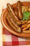 Salsicha do alimento do assado imagem de stock
