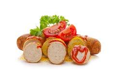 Salsicha do caril Imagens de Stock