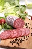 Salsicha do Salami Foto de Stock
