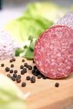 Salsicha do Salami Imagens de Stock Royalty Free