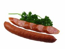 Salsicha do Salami com salsa Foto de Stock Royalty Free
