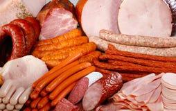 Salsicha e carne Foto de Stock Royalty Free