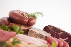 Salsicha e carnes Imagens de Stock