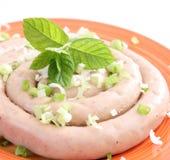 Salsicha fresca Imagens de Stock