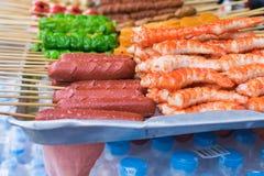 Salsicha fritada Foto de Stock