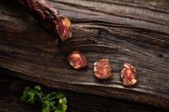 Salsicha fumada Fotografia de Stock Royalty Free