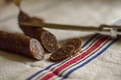 Salsicha fumada Fotos de Stock Royalty Free