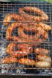 Salsicha grelhada Imagem de Stock Royalty Free