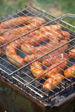 Salsicha grelhada Imagens de Stock