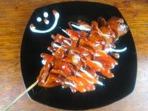 Salsicha grelhada fotografia de stock