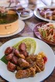 Salsicha local tailandesa Foto de Stock