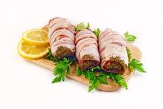 Salsicha na baliza Imagem de Stock Royalty Free