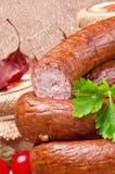Salsicha polonesa Home-baked Foto de Stock Royalty Free