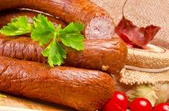 Salsicha polonesa Home-baked Imagens de Stock