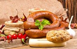 Salsicha polonesa Home-baked Fotos de Stock