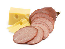 Salsicha, salami fotografia de stock