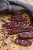 Salsicha do salame Fotografia de Stock Royalty Free