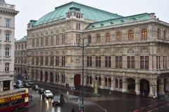 Salsicha Staatsoper de Opera do estado de Viena Imagem de Stock
