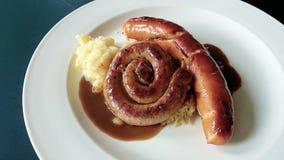 Salsichas alemãs Imagem de Stock Royalty Free