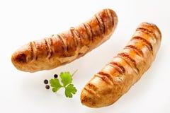 Salsichas alemãs recentemente cozinhadas imagens de stock