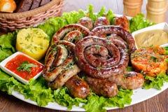 Salsichas bávaras sortidos Foto de Stock Royalty Free