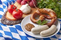 Salsichas brancas bávaras Imagens de Stock