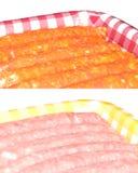 Salsichas cruas frescas Foto de Stock